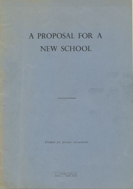 Cover: Proposal for a New School (1936)